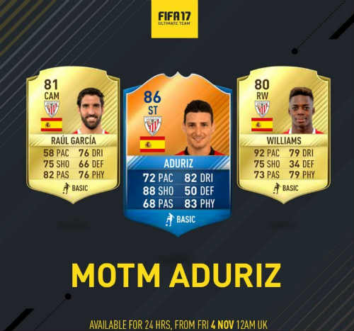 MOTM FIFA 17 aduriz